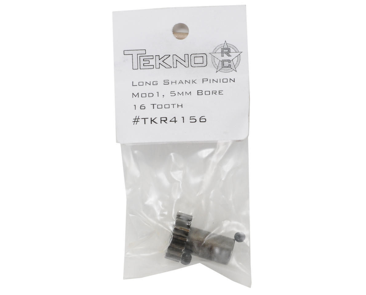 5mm Bore Hardened Steel Long Shank Mod 1 Pinion Gear (16T) by Tekno RC