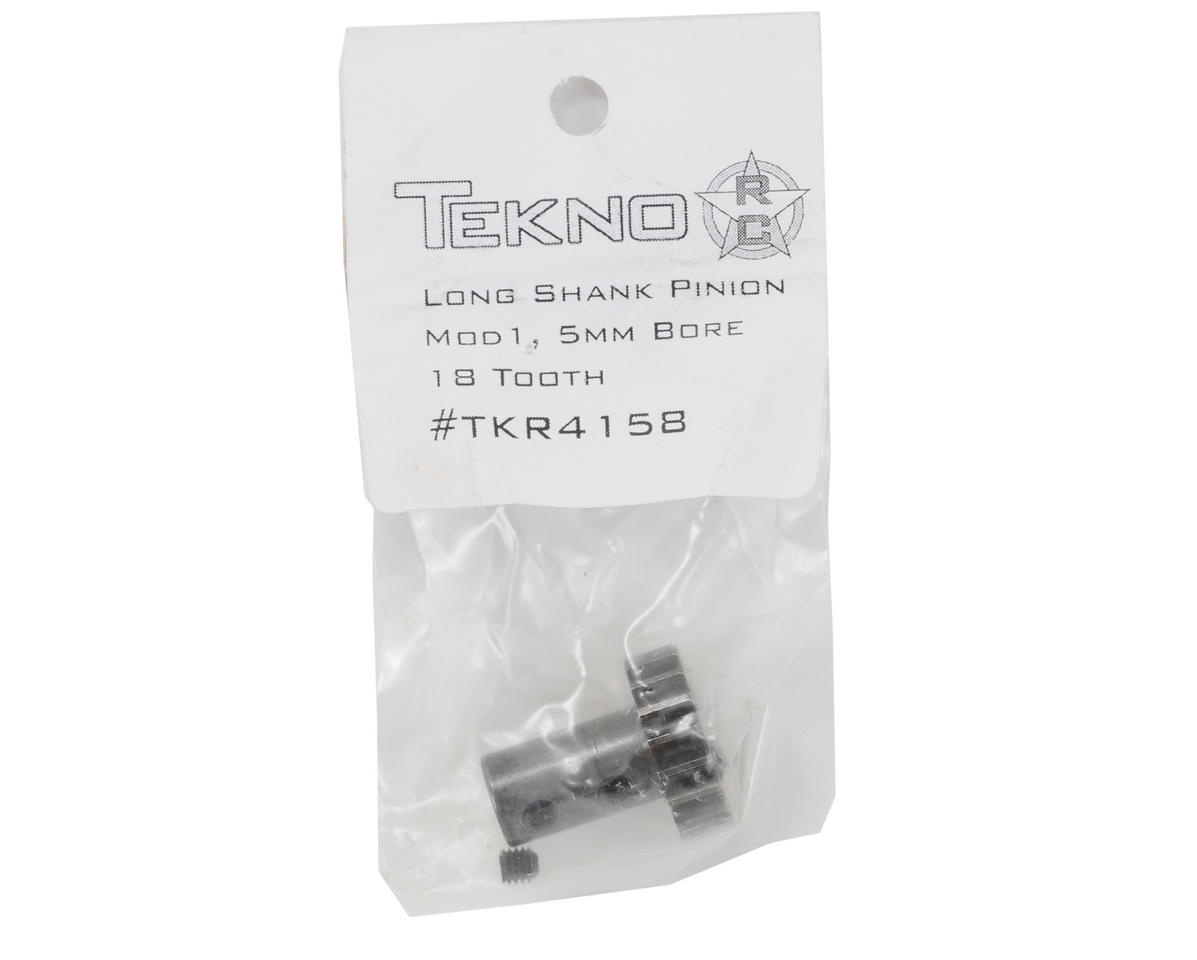 5mm Bore Hardened Steel Long Shank Mod 1 Pinion Gear (18T) by Tekno RC
