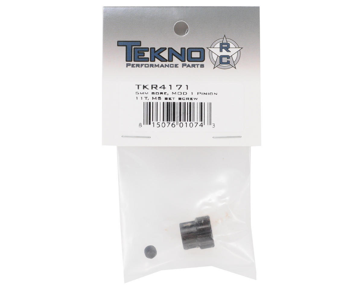 """""""M5"""" Hardened Steel Mod1 Pinion Gear w/5mm Bore (11T) by Tekno RC"""