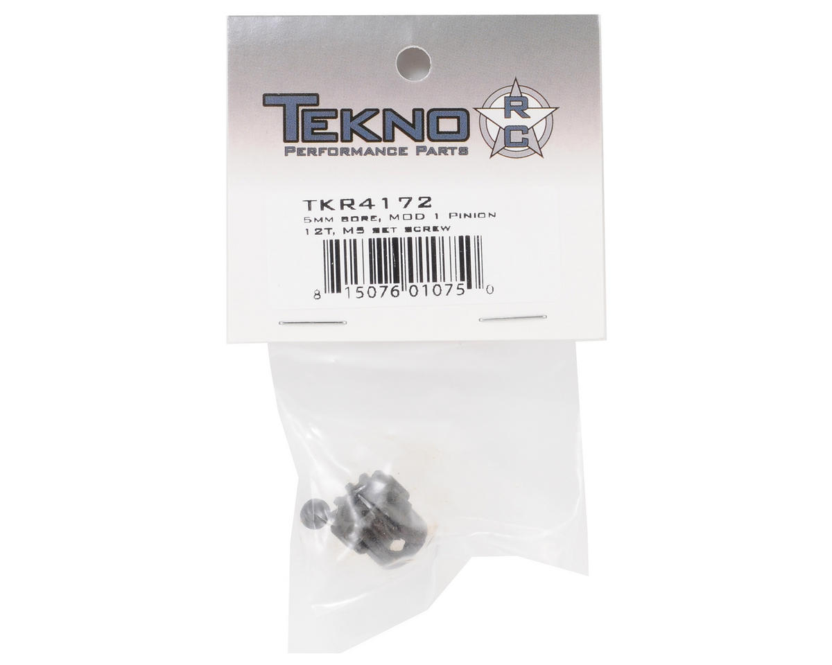 """M5"" Hardened Steel Mod1 Pinion Gear w/5mm Bore (12T) by Tekno RC"