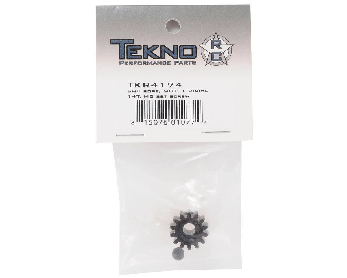 "Tekno RC ""M5"" Hardened Steel Mod1 Pinion Gear w/5mm Bore (14T)"