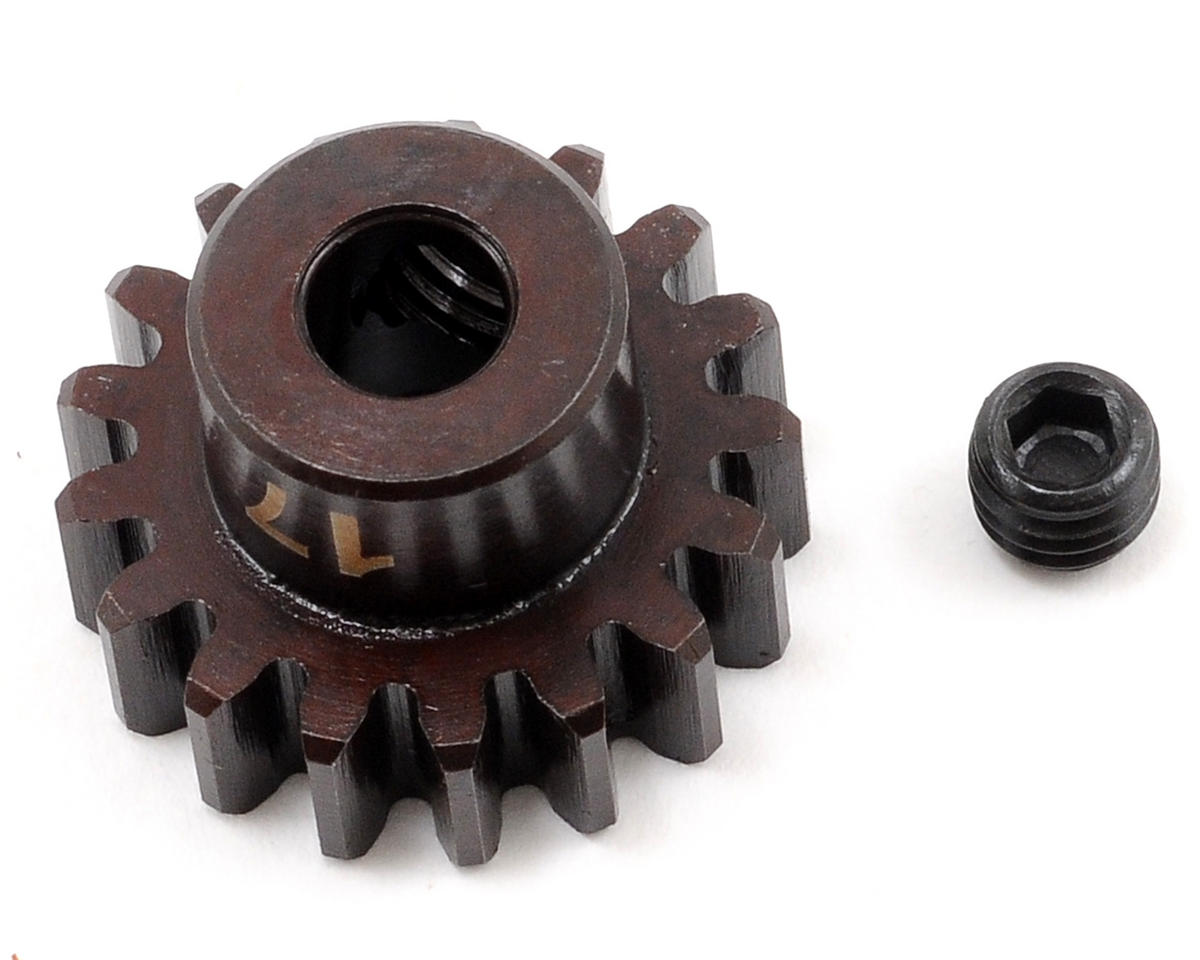 """M5"" Hardened Steel Mod1 Pinion Gear w/5mm Bore (17T) by Tekno RC"