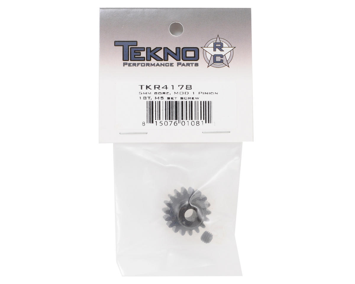 """M5"" Hardened Steel Mod1 Pinion Gear w/5mm Bore (18T) by Tekno RC"