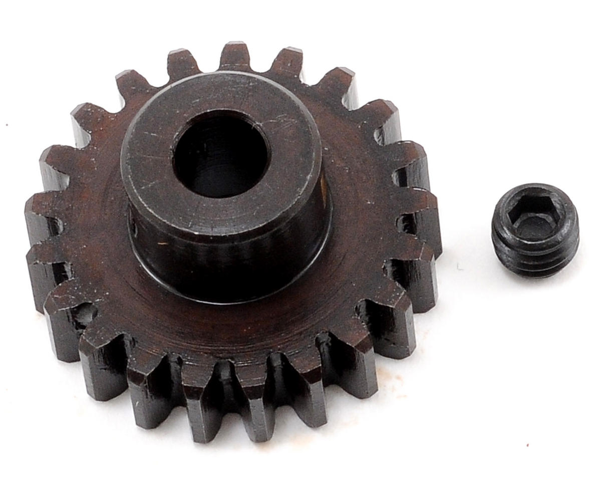 """M5"" Hardened Steel Mod1 Pinion Gear w/5mm Bore (21T) by Tekno RC"