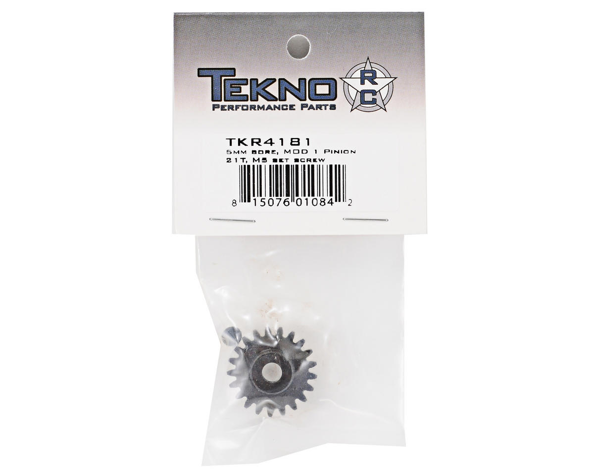 "Tekno RC ""M5"" Hardened Steel Mod1 Pinion Gear w/5mm Bore (21T)"