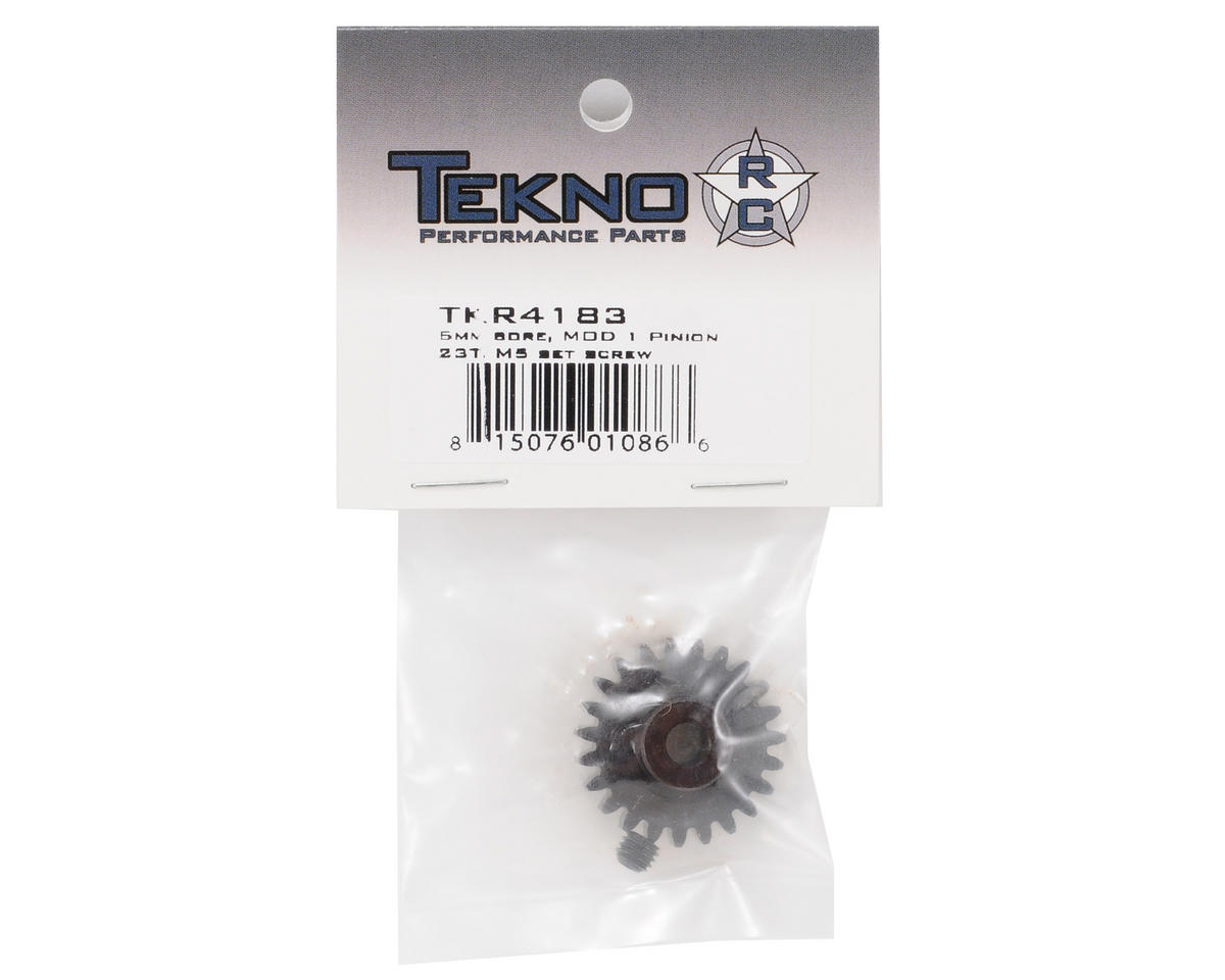 """M5"" Hardened Steel Mod1 Pinion Gear w/5mm Bore (23T) by Tekno RC"