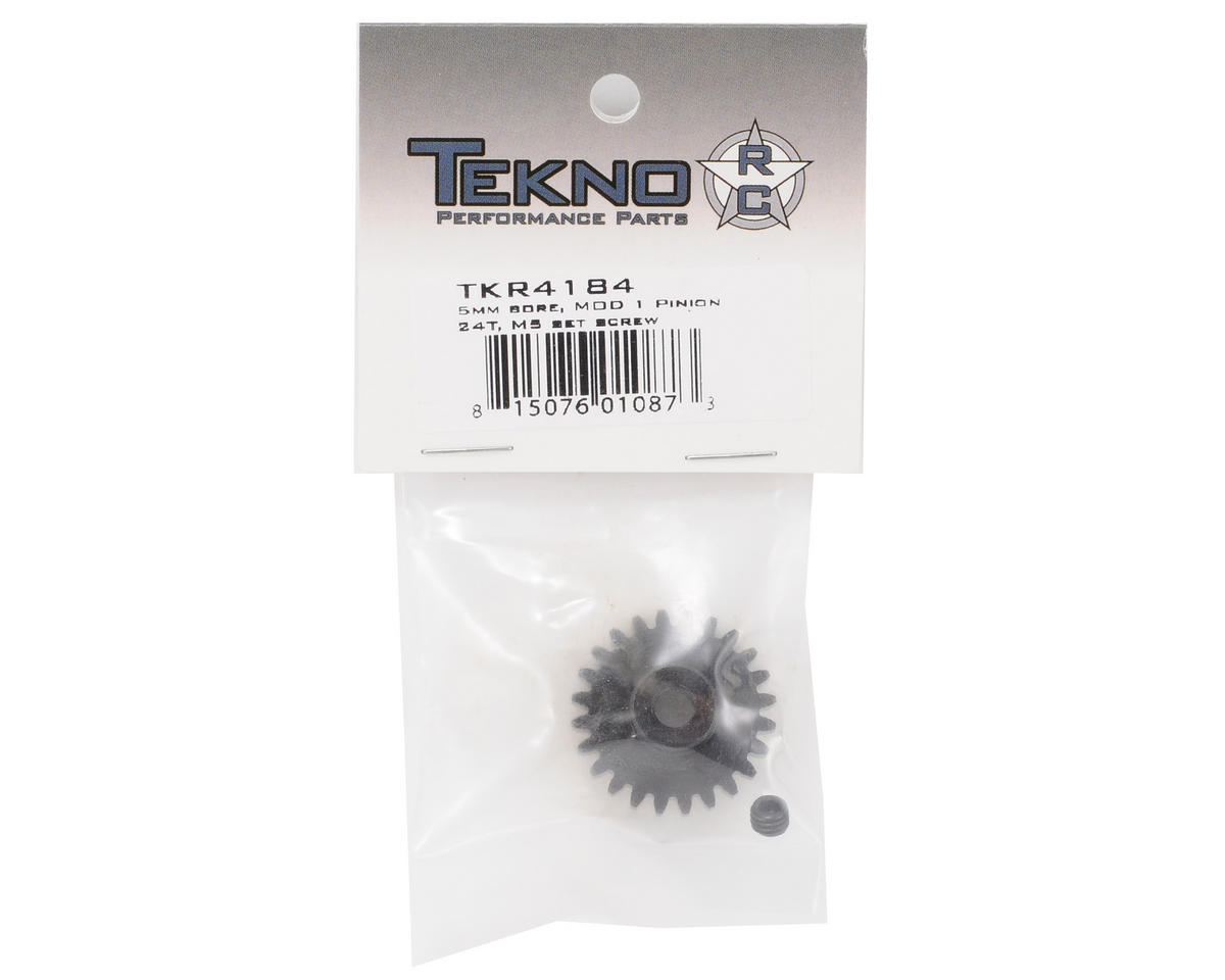 """""""M5"""" Hardened Steel Mod1 Pinion Gear w/5mm Bore (24T) by Tekno RC"""