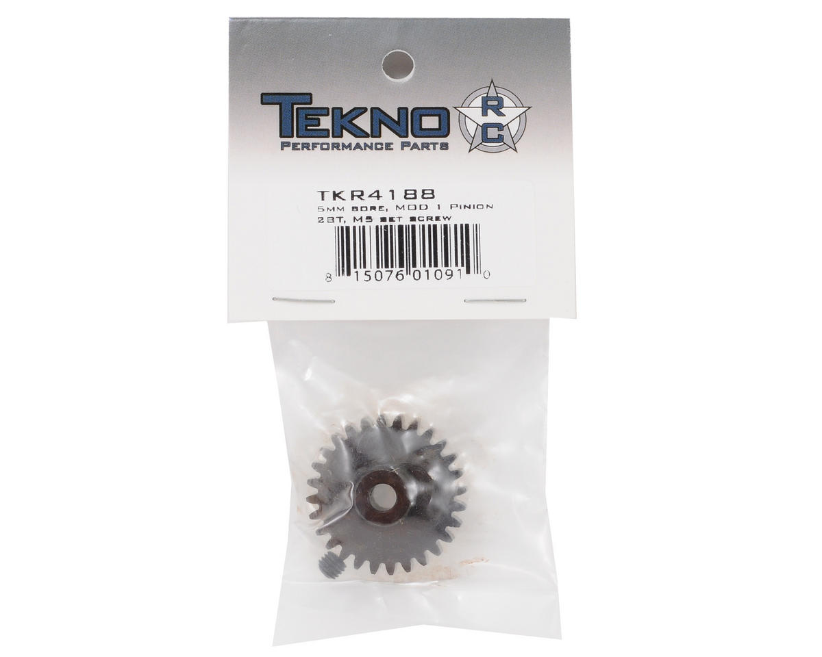 """""""M5"""" Hardened Steel Mod1 Pinion Gear w/5mm Bore (28T) by Tekno RC"""