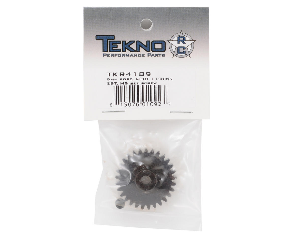 """M5"" Hardened Steel Mod1 Pinion Gear w/5mm Bore (29T) by Tekno RC"