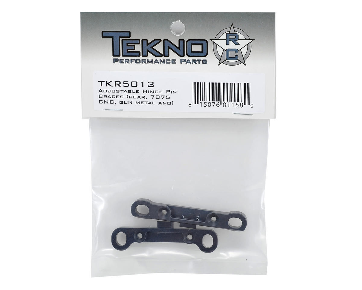 Tekno RC Rear CNC Adjustable Hinge Pin Brace Set (Gun Metal) (2)
