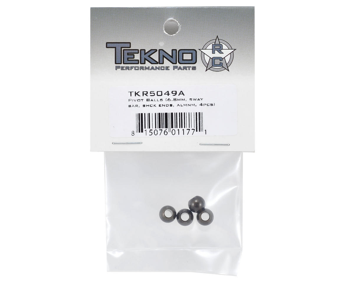 Aluminum 6.8mm Pivot Ball Set (4) by Tekno RC