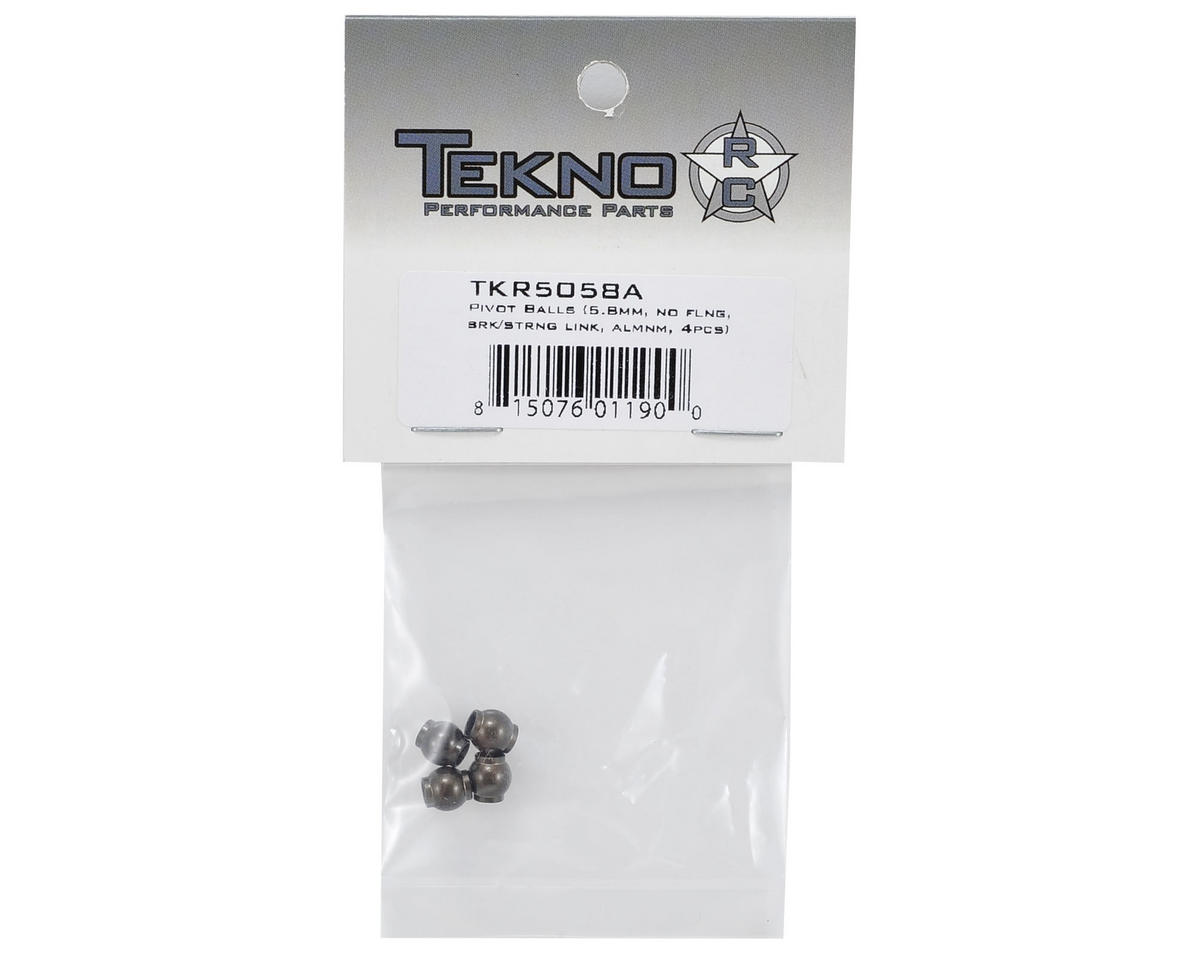 Tekno RC Aluminum 5.8mm Servo Link Pivot Ball Set (4)