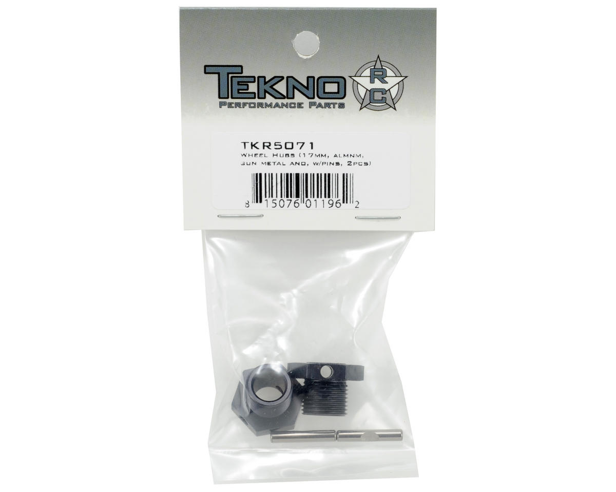 Tekno RC 17mm Aluminum Wheel Hub Set w/Pins (Gun Metal) (2)