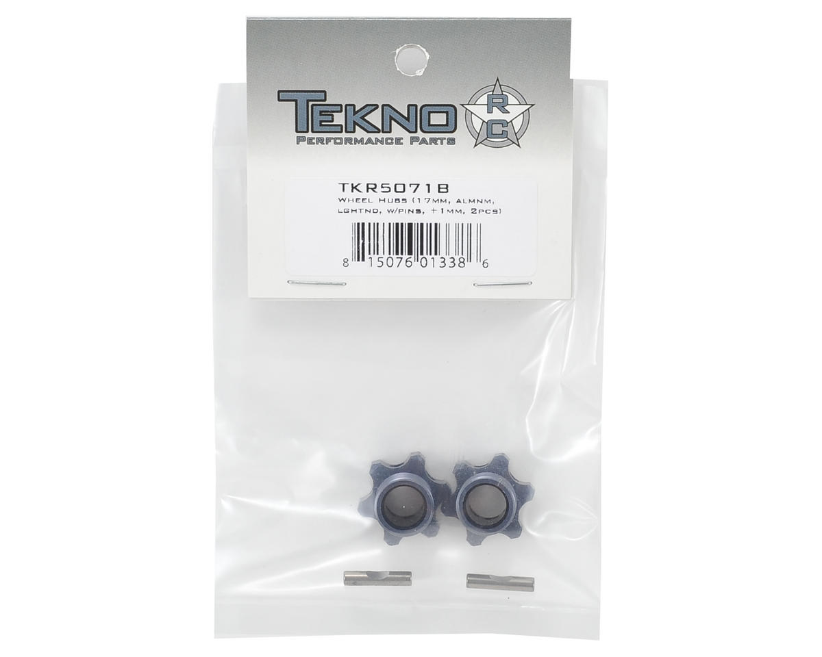 Tekno RC Aluminum 17mm Lightened Hex Wheel Hub Set (Gun Metal) (2) (+1mm Offset)