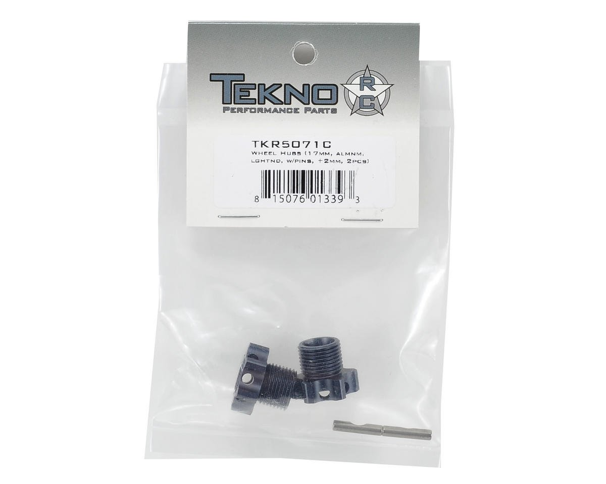 Aluminum 17mm Lightened Hex Wheel Hub Set (Gun Metal) (2) (+2mm Offset) by Tekno RC