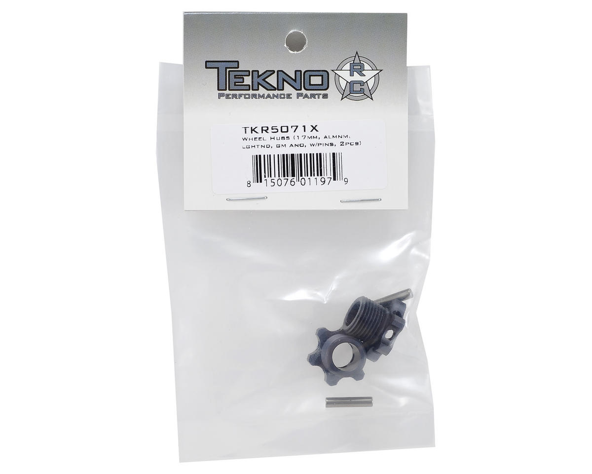 Tekno RC Aluminum Lightened Wheel Hub Set w/Pins (Gun Metal) (2)