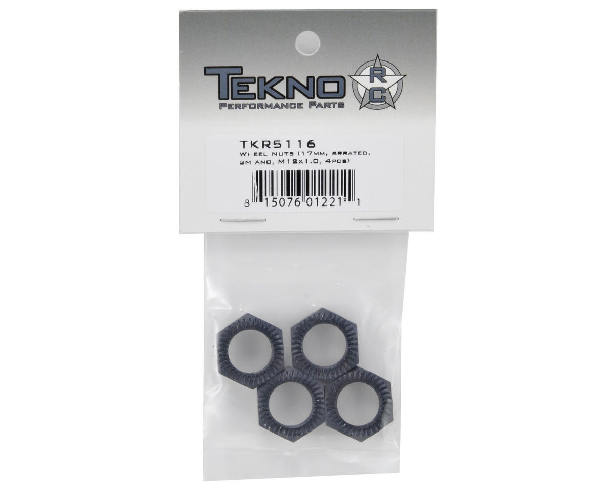 Tekno RC Serrated Wheel Nut Set (Gun Metal) (4)