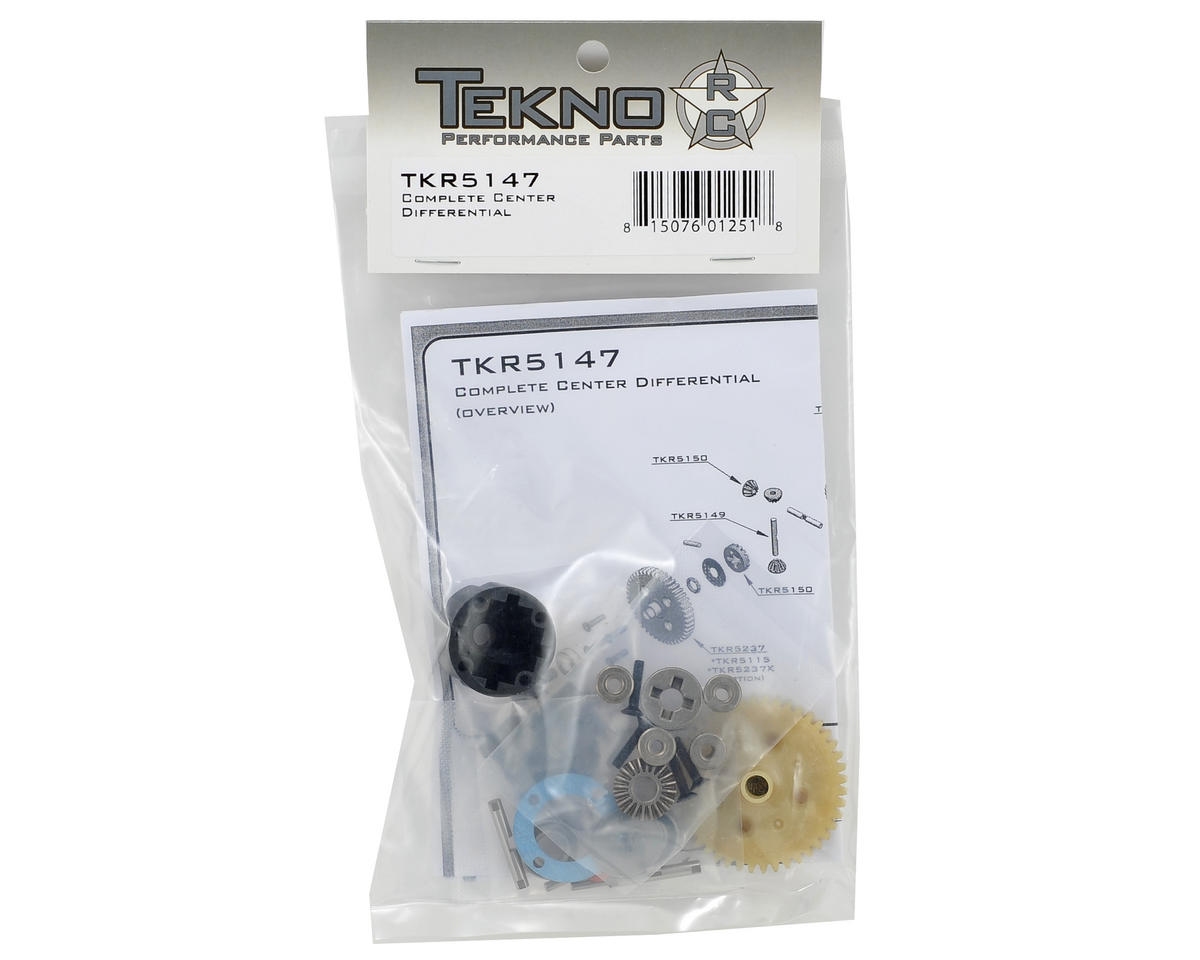 Tekno RC Complete Center Differential w/Plastic Spur