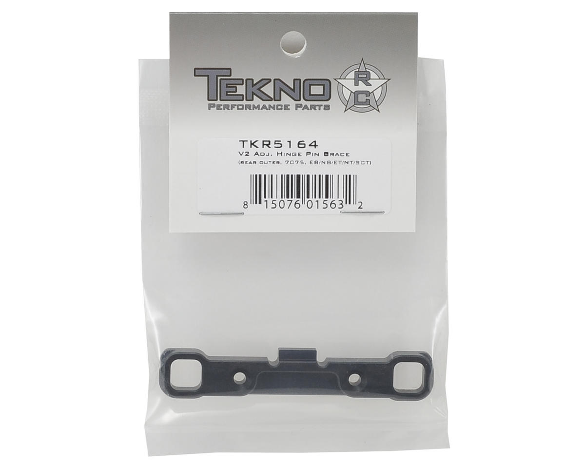 "Tekno RC Aluminum V2 ""D"" Block Adjustable Hinge Pin Brace"
