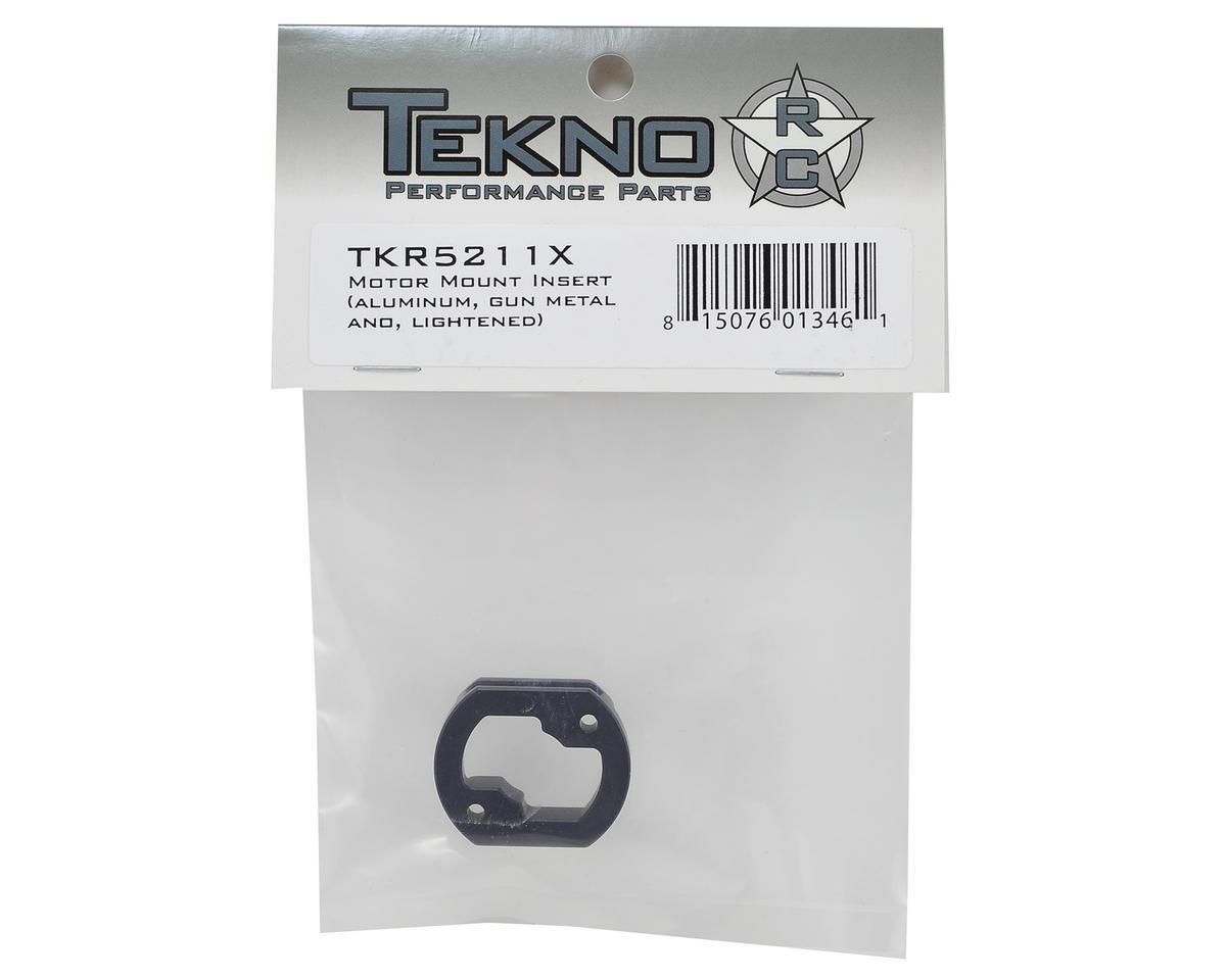 Lightened Aluminum Motor Mount Insert (Gun Metal) by Tekno RC