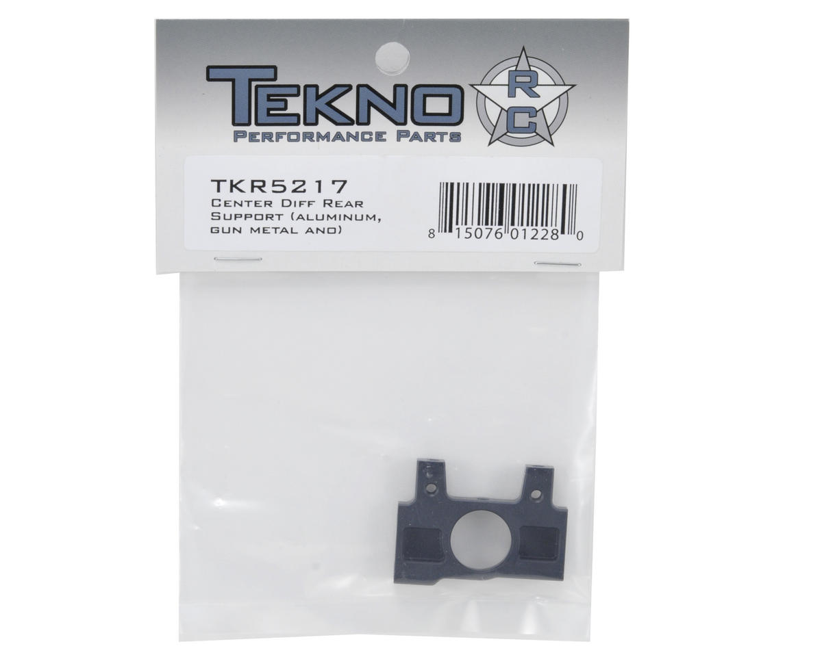 Tekno RC Aluminum Rear Center Differential Support (Gun Metal)