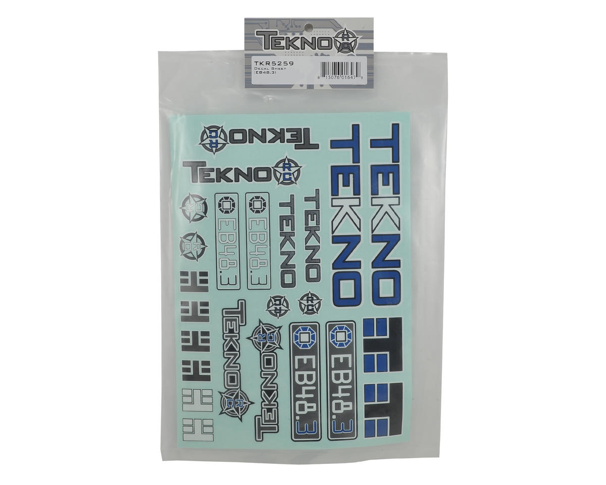 Tekno RC EB48.3 Decal Sheet