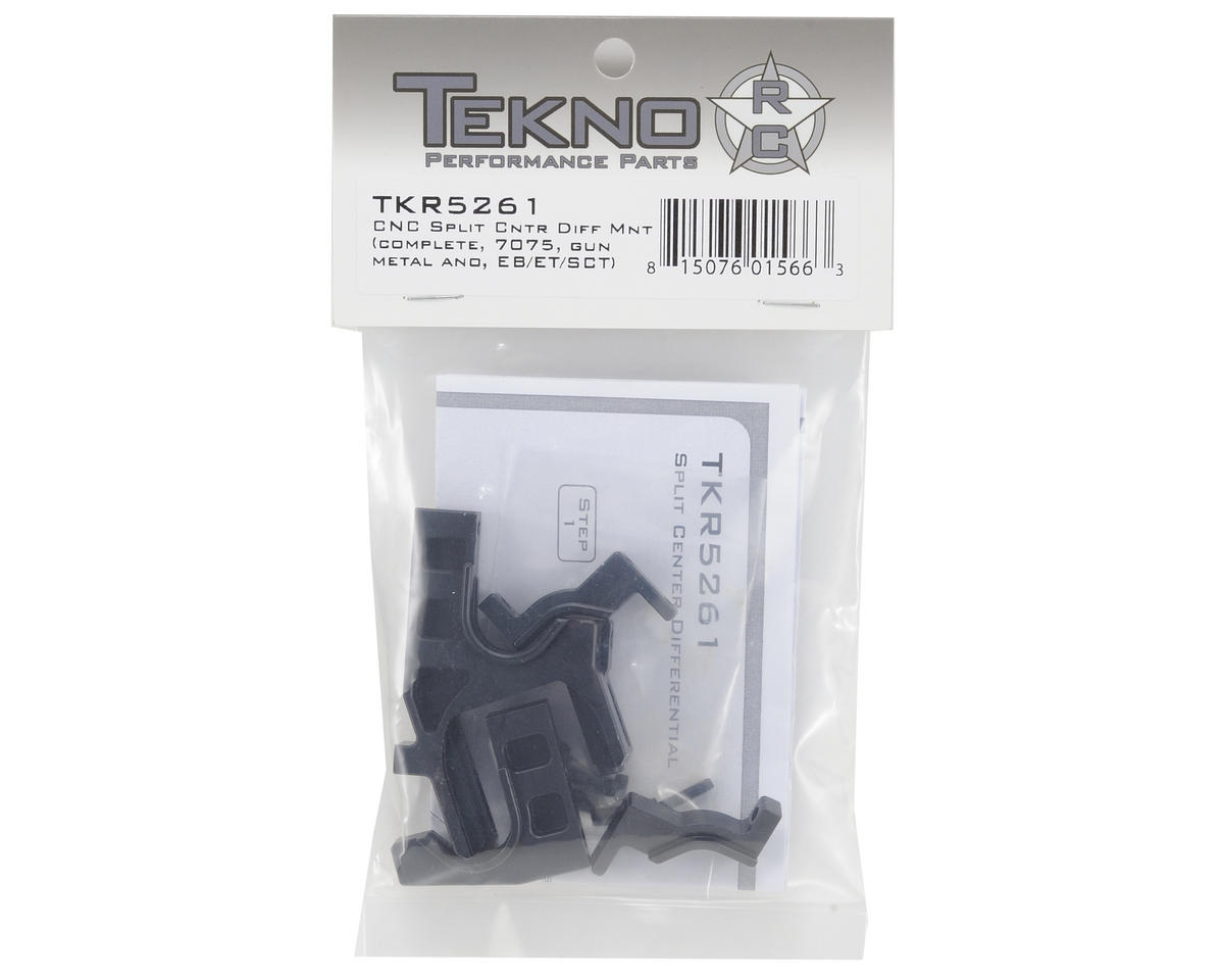 Tekno RC Aluminum Split Center Differential Motor Mount (Gun Metal)