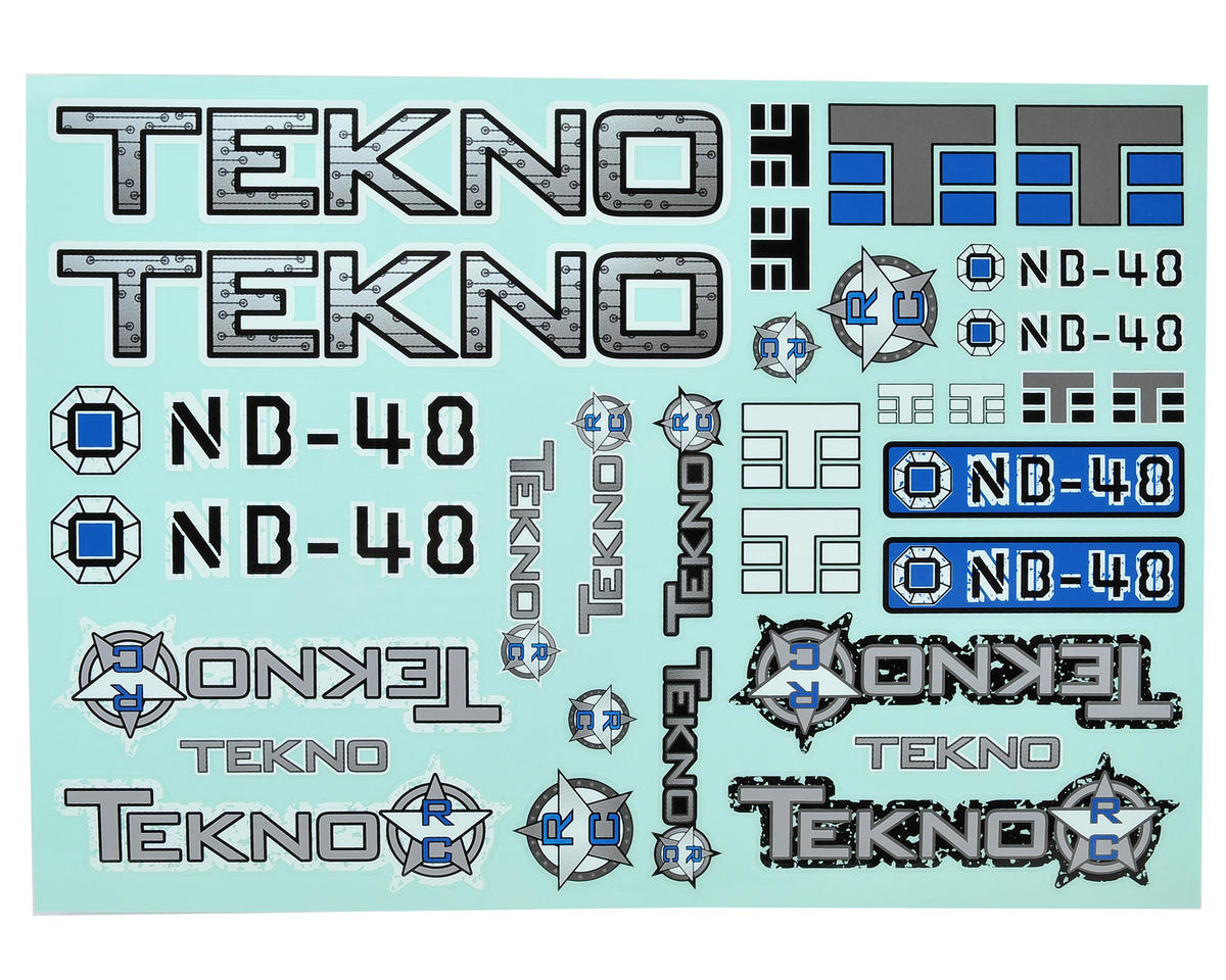 Tekno RC NB48 Decal Sheet