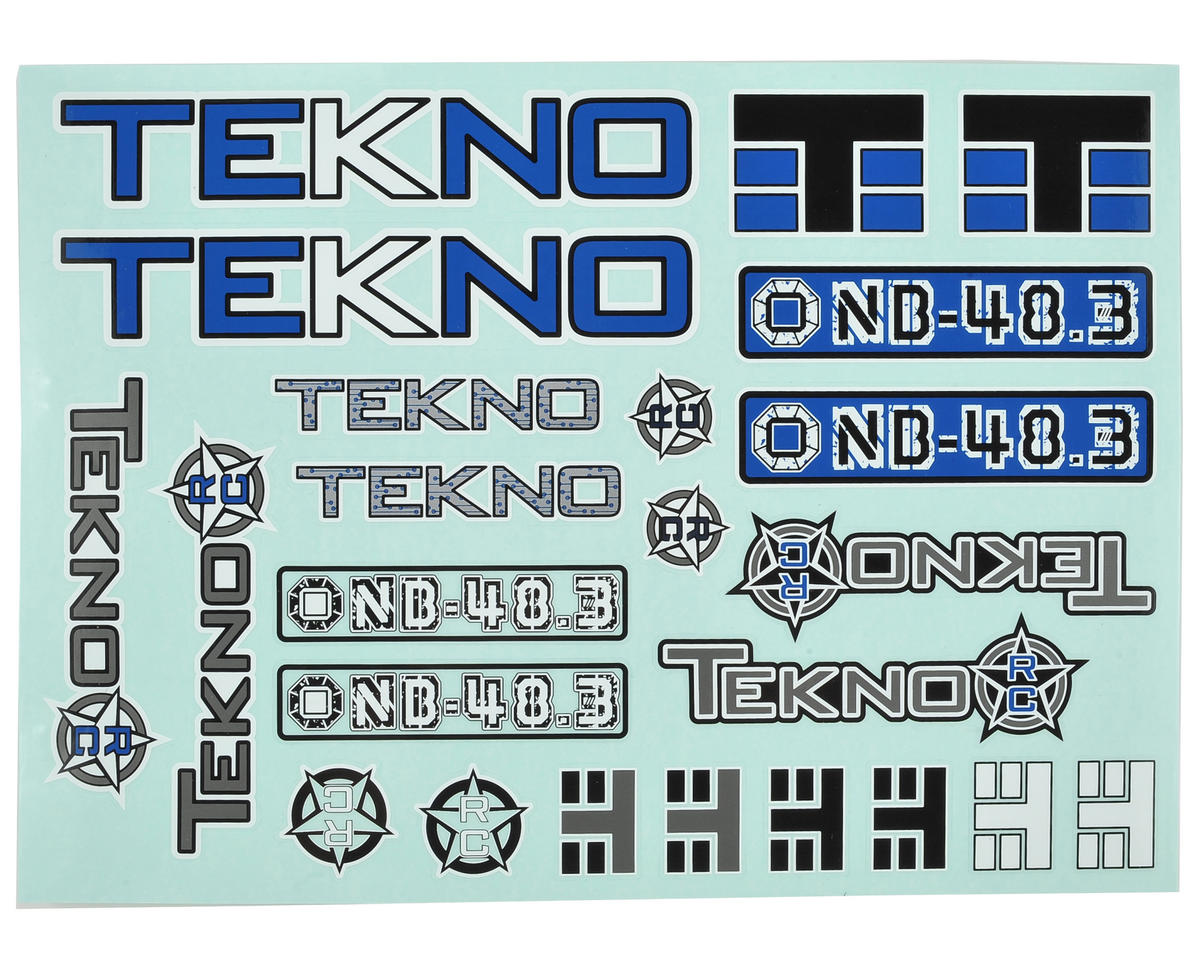 Tekno RC NB48.3 Decal Sheet