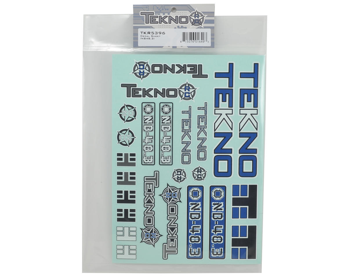 Tekno RC NB48.3 Decal Sheet