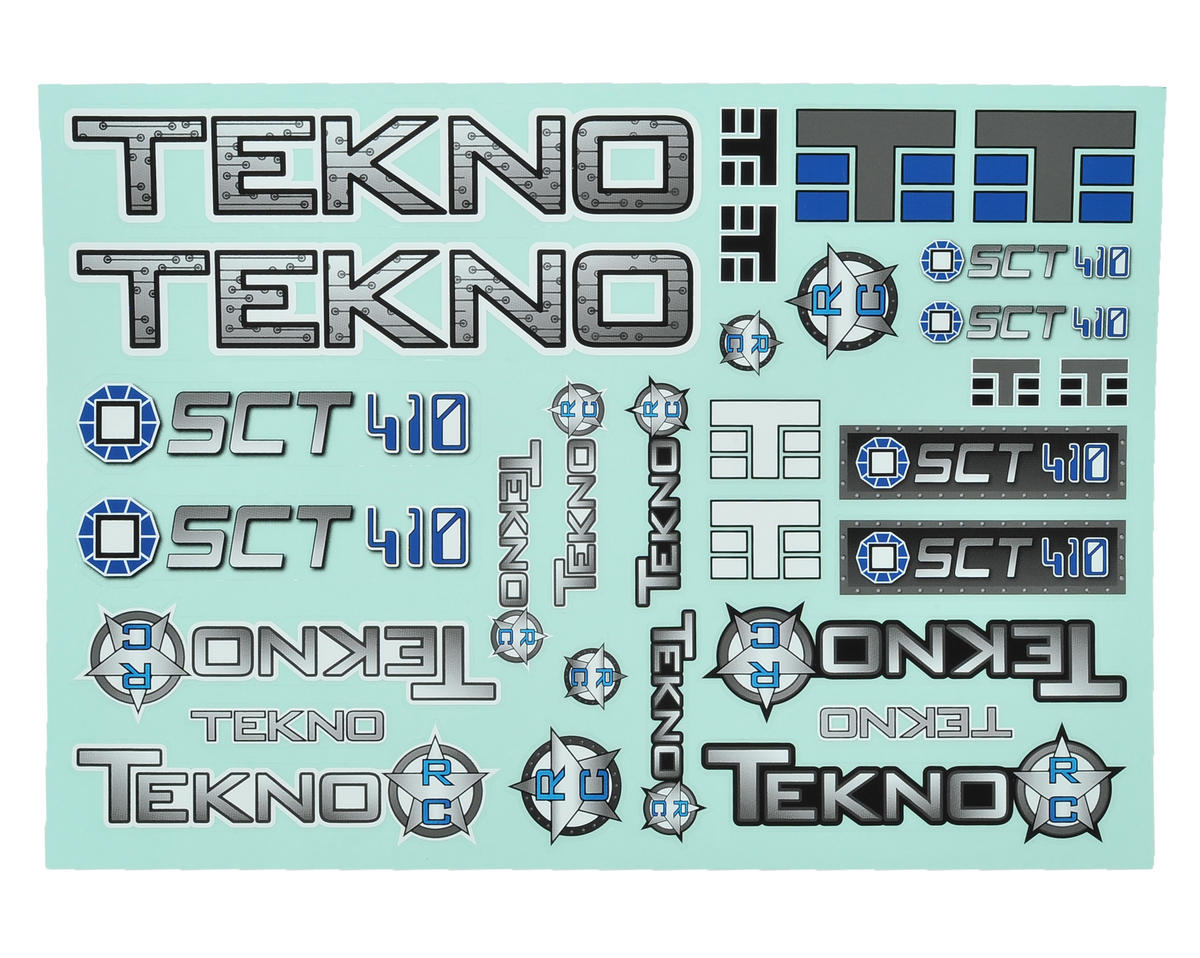 Tekno RC SCT410 Decal Sheet