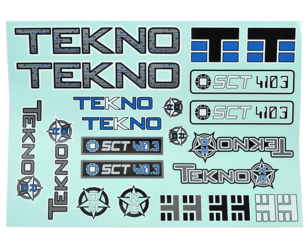 Tekno RC SCT410.3 Decal Sheet