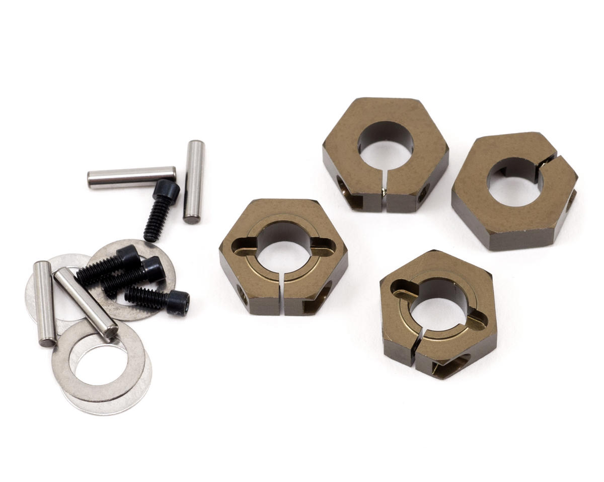 12mm Aluminum Clamping Wheel Hex Set (4) by Tekno RC EB410