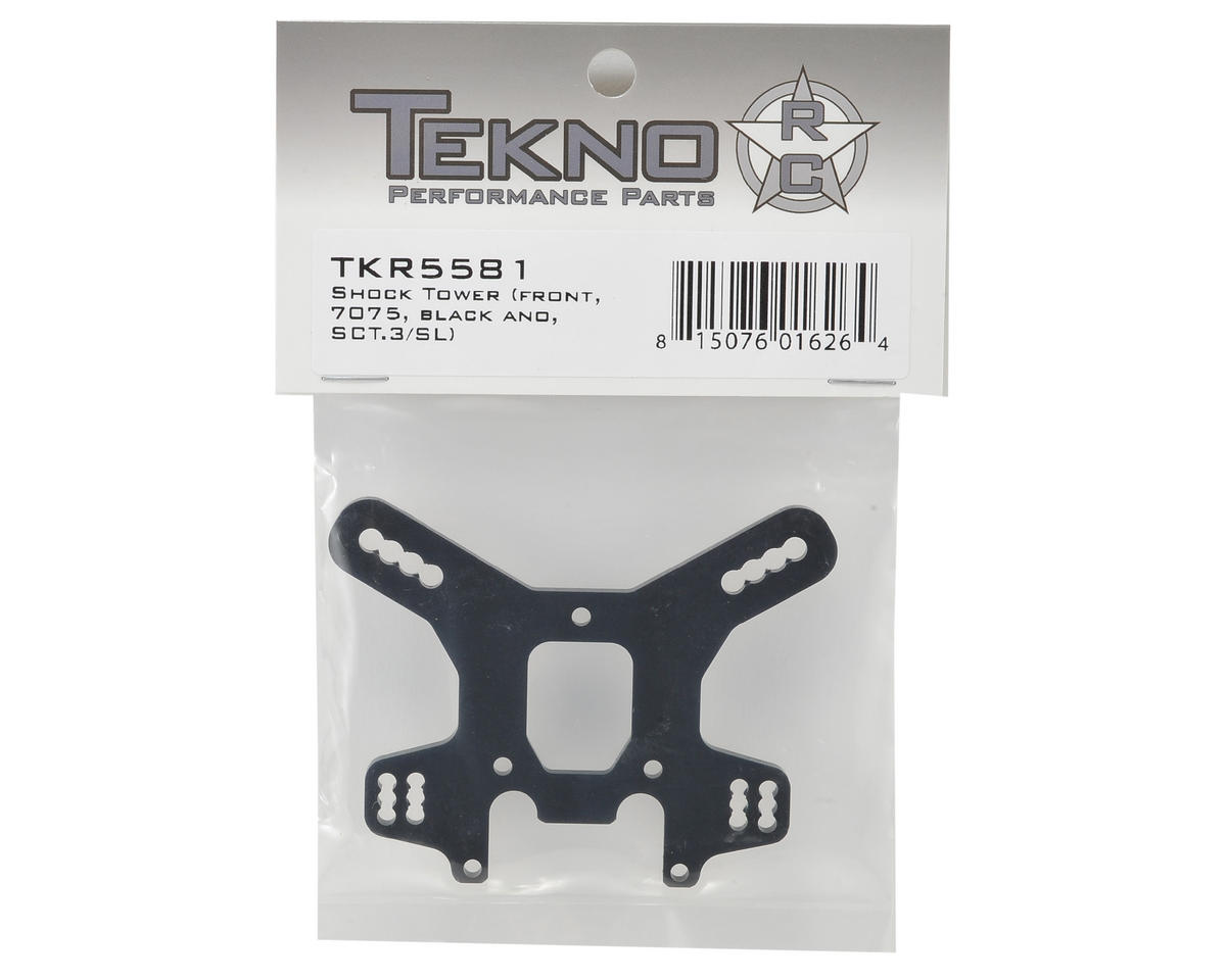 Tekno RC Aluminum Front Shock Tower (Black) (Short)