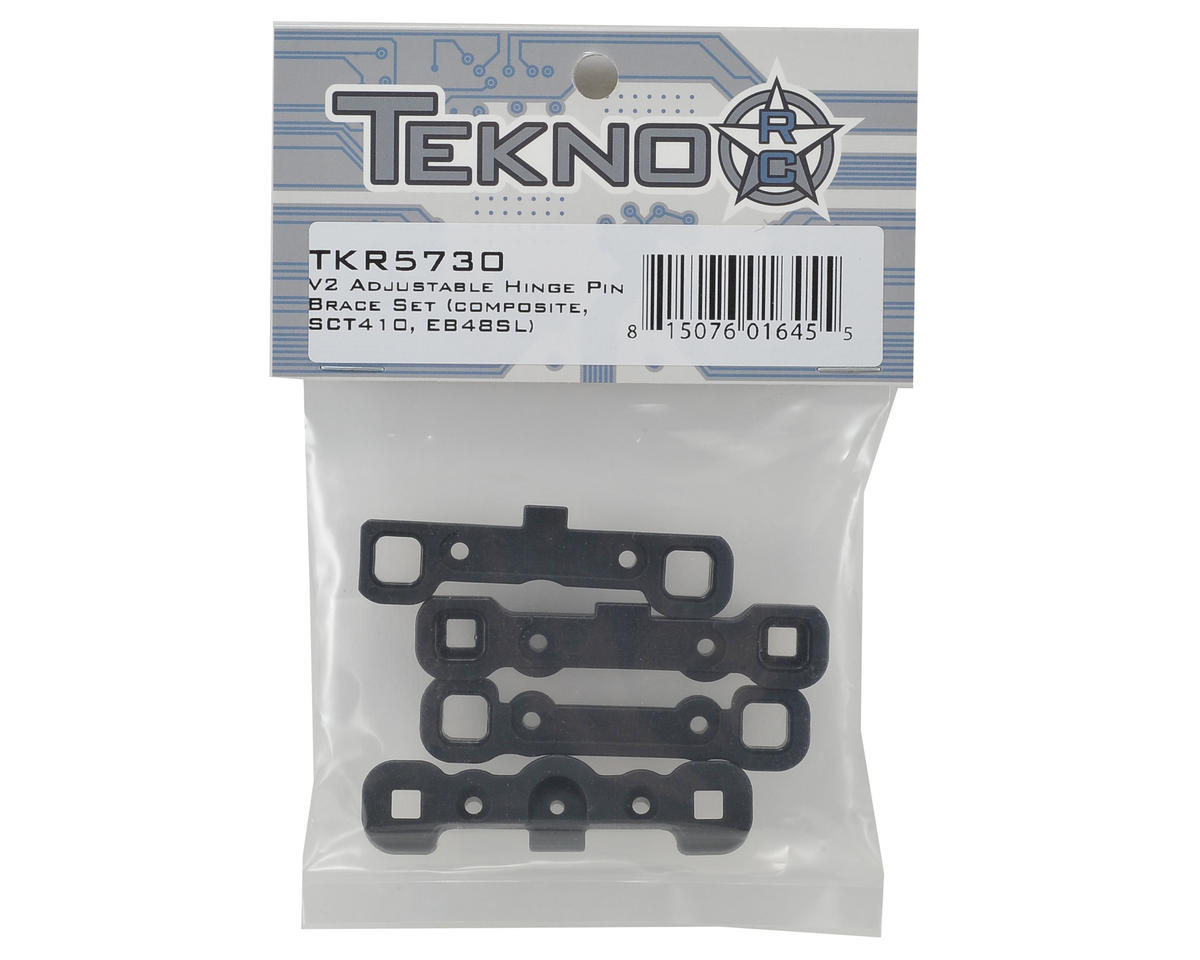 Tekno RC V2 Composite Adjustable Hinge Pin Brace Set