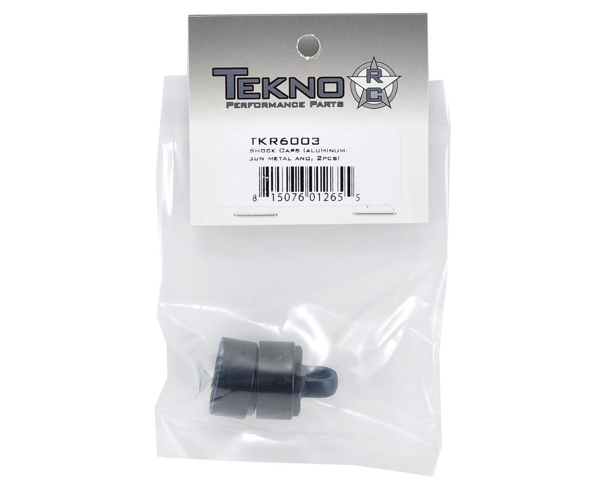 Tekno RC Aluminum Vented Shock Cap Set (Gun Metal) (2)