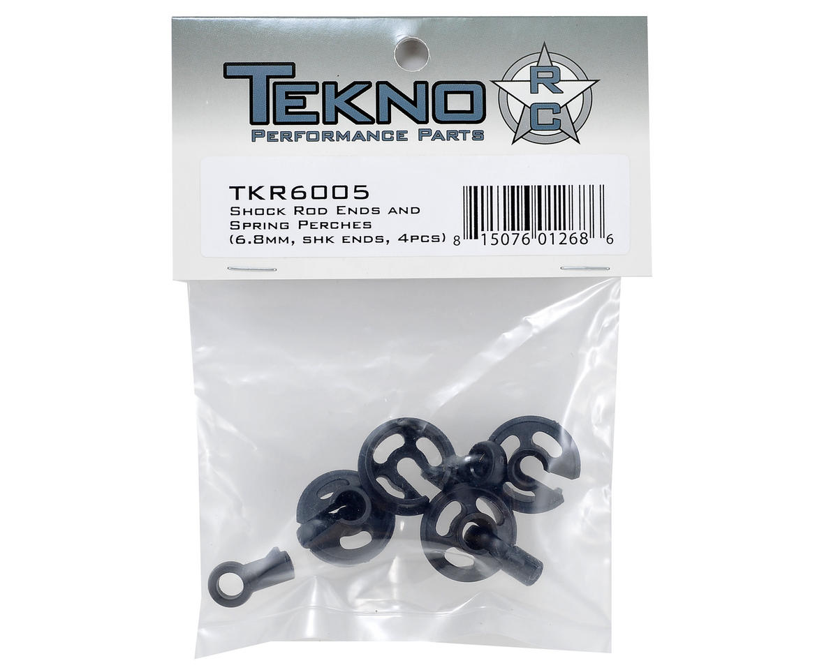 Shock Rod End & Spring Cup Set (4) by Tekno RC