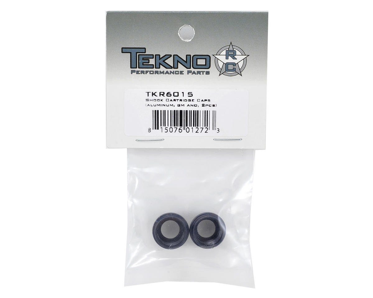 Tekno RC Aluminum Shock Cartridge Cap Set (Gun Metal) (2)