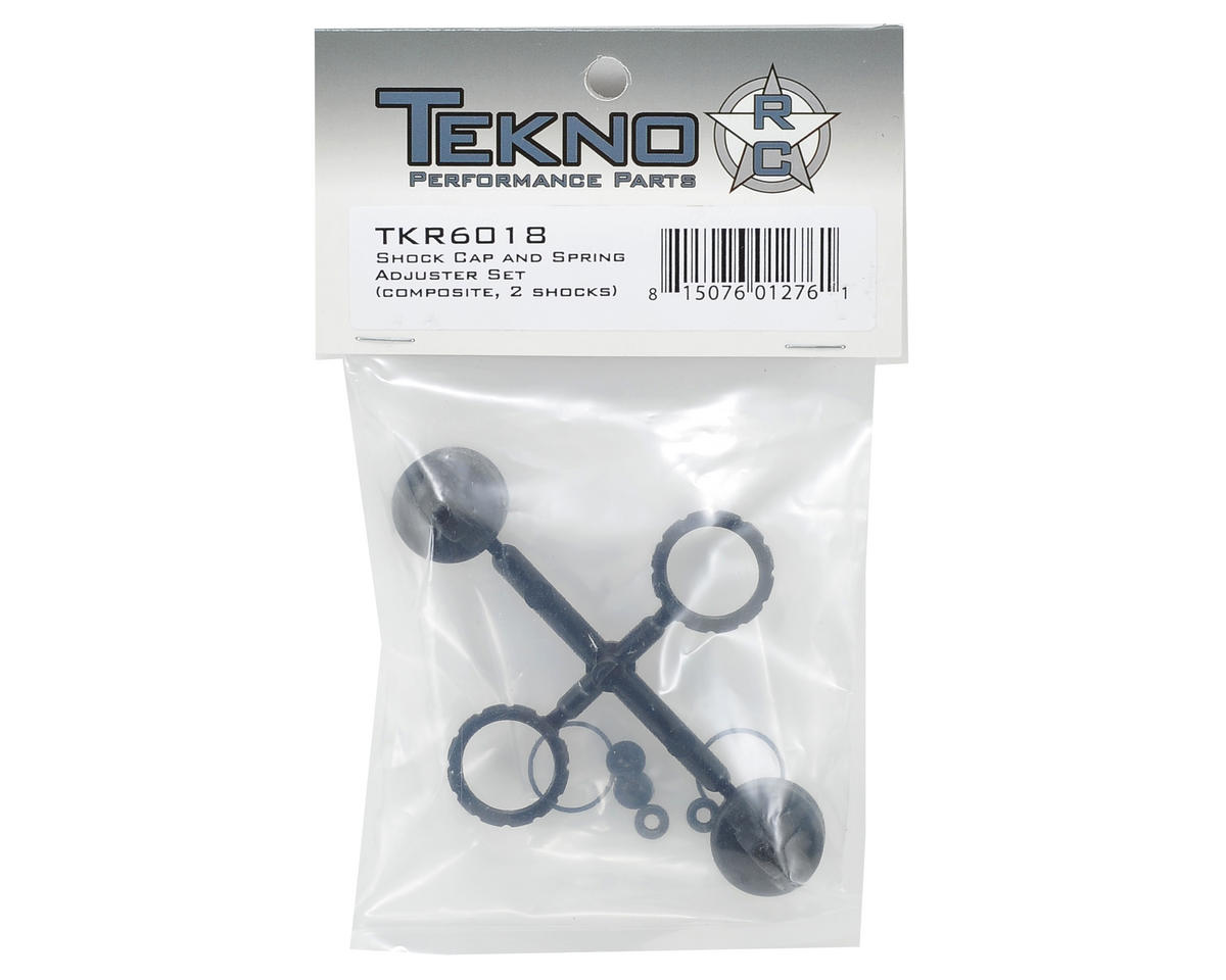 Tekno RC Composite Shock Cap & Spring Adjuster Set