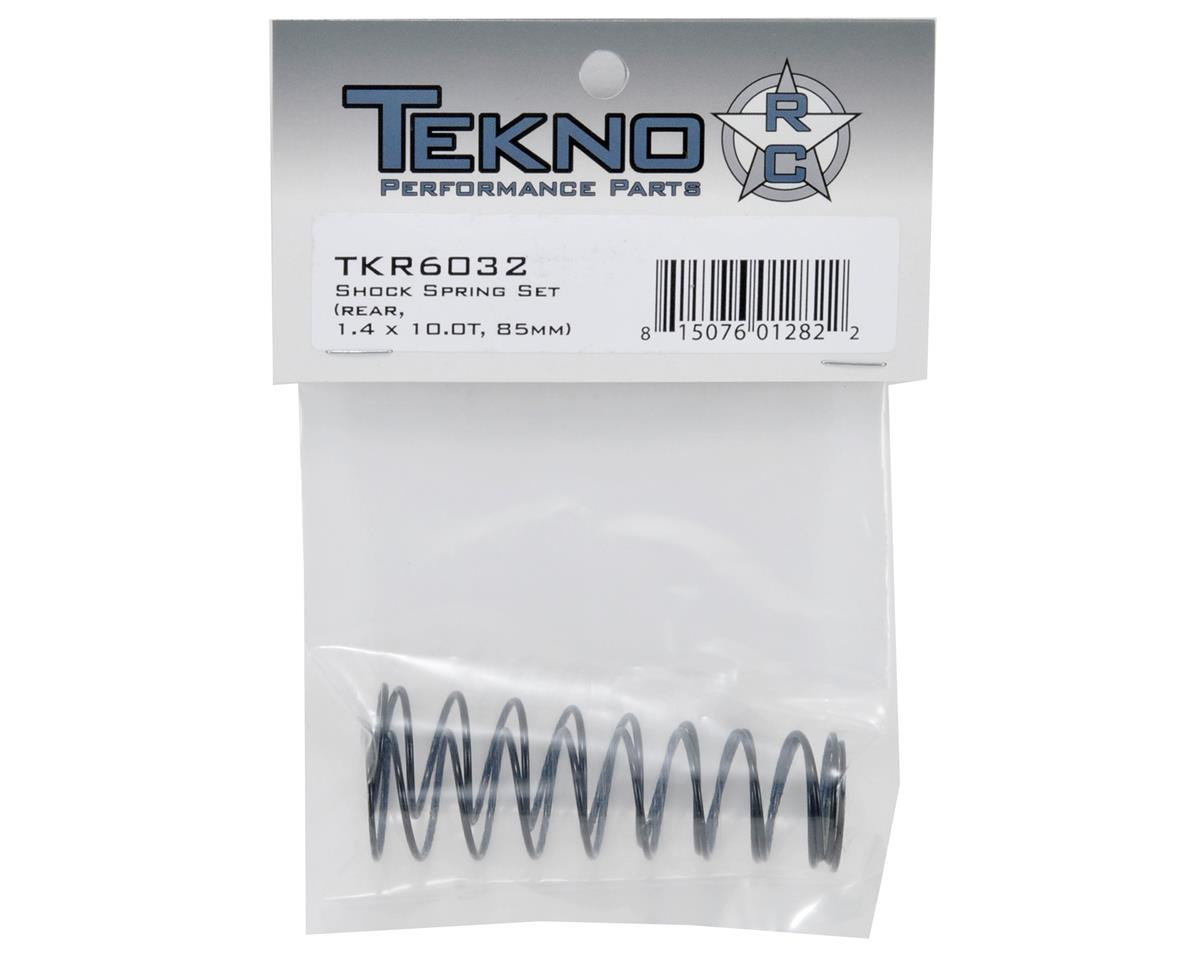 Tekno RC 85mm Rear Shock Spring Set (Yellow) (1.4 x 10.0T)