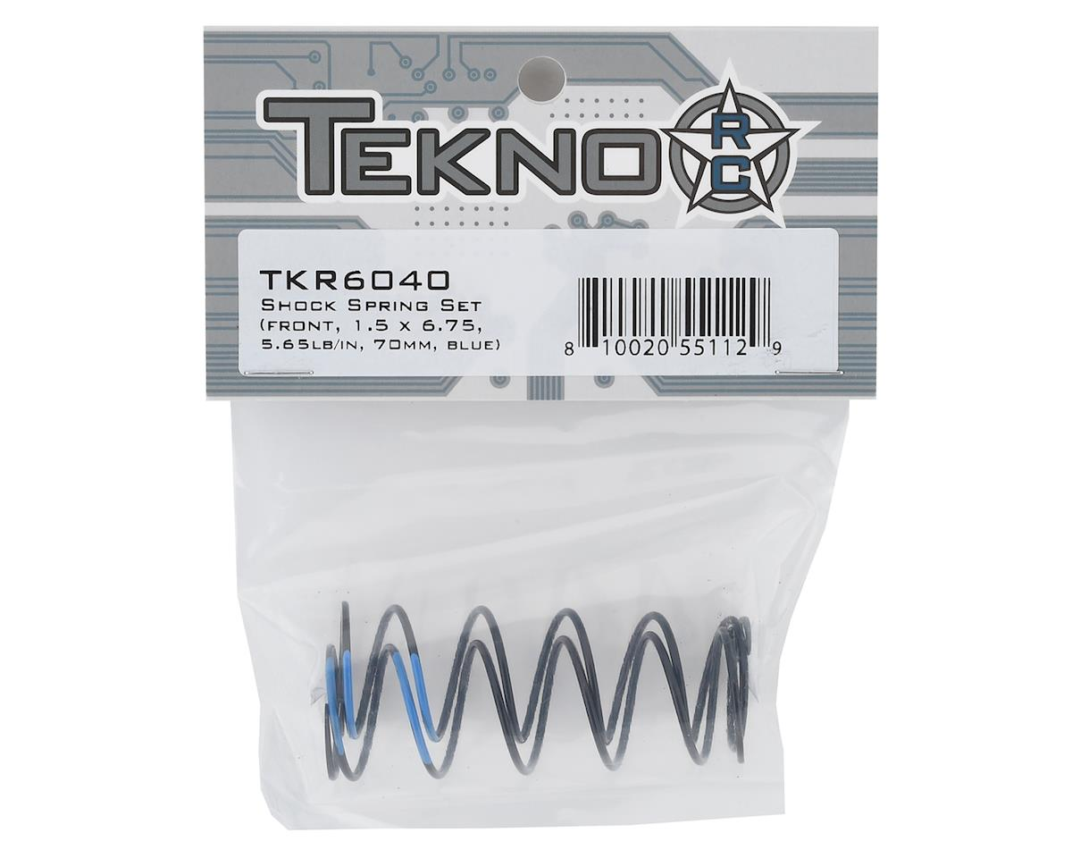 Tekno RC 70mm Front Shock Spring Set (Blue - 5.65lb/in) (1.5 x 6.75)