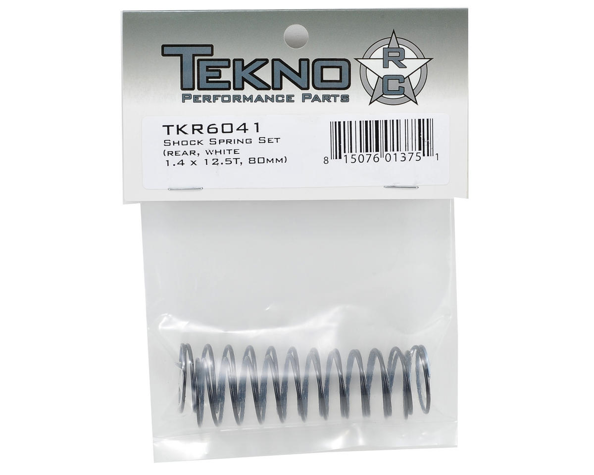 Tekno RC 80mm Rear Shock Spring Set (White) (1.4 x 12.5T)