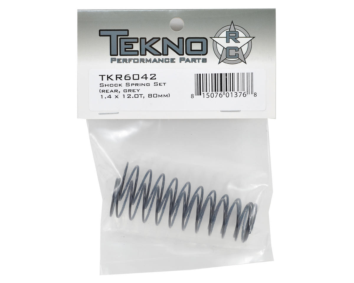 Tekno RC 80mm Rear Shock Spring Set (Grey) (1.4 x 12.0T)