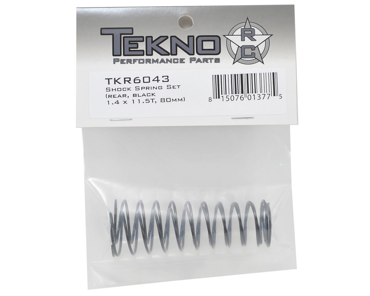 80mm Rear Shock Spring Set (Black) (1.4 x 11.5T) by Tekno RC