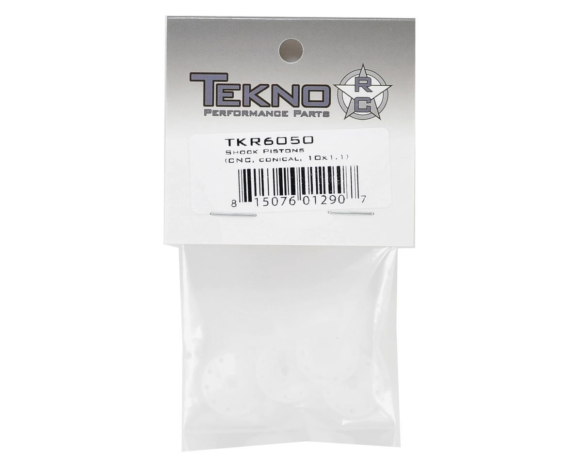 CNC Conical Shock Pistons (10x1.1mm) by Tekno RC