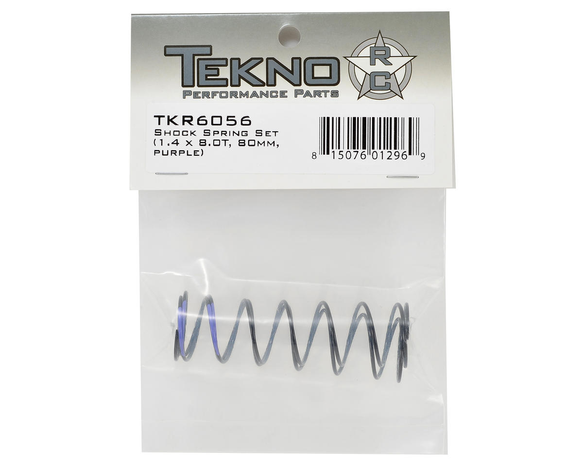 Tekno RC 80mm Rear Shock Spring Set (1.4 x 8.0T) (2)