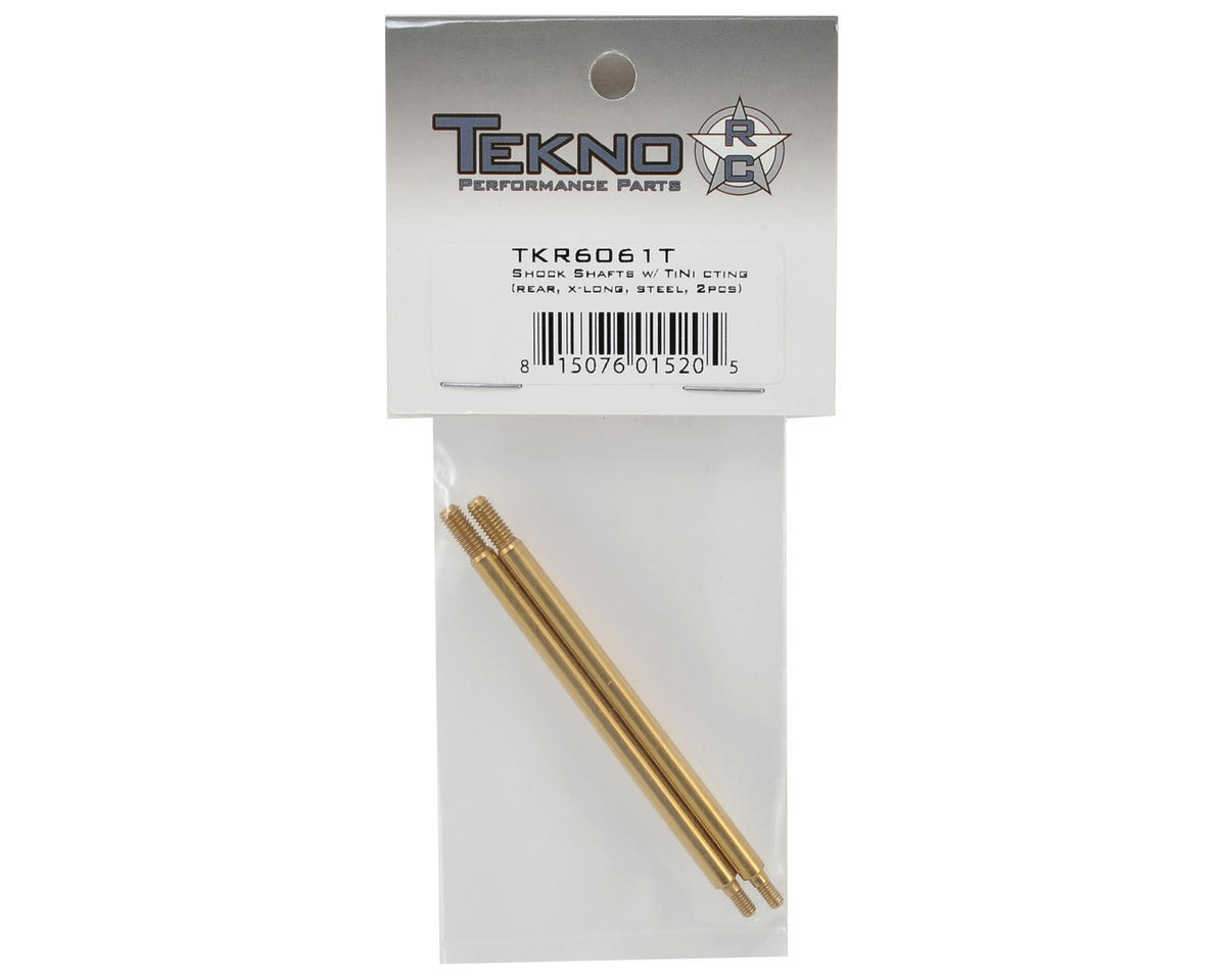 Tekno RC Steel Ti-Nitride X-Long Rear Shock Shafts (2)