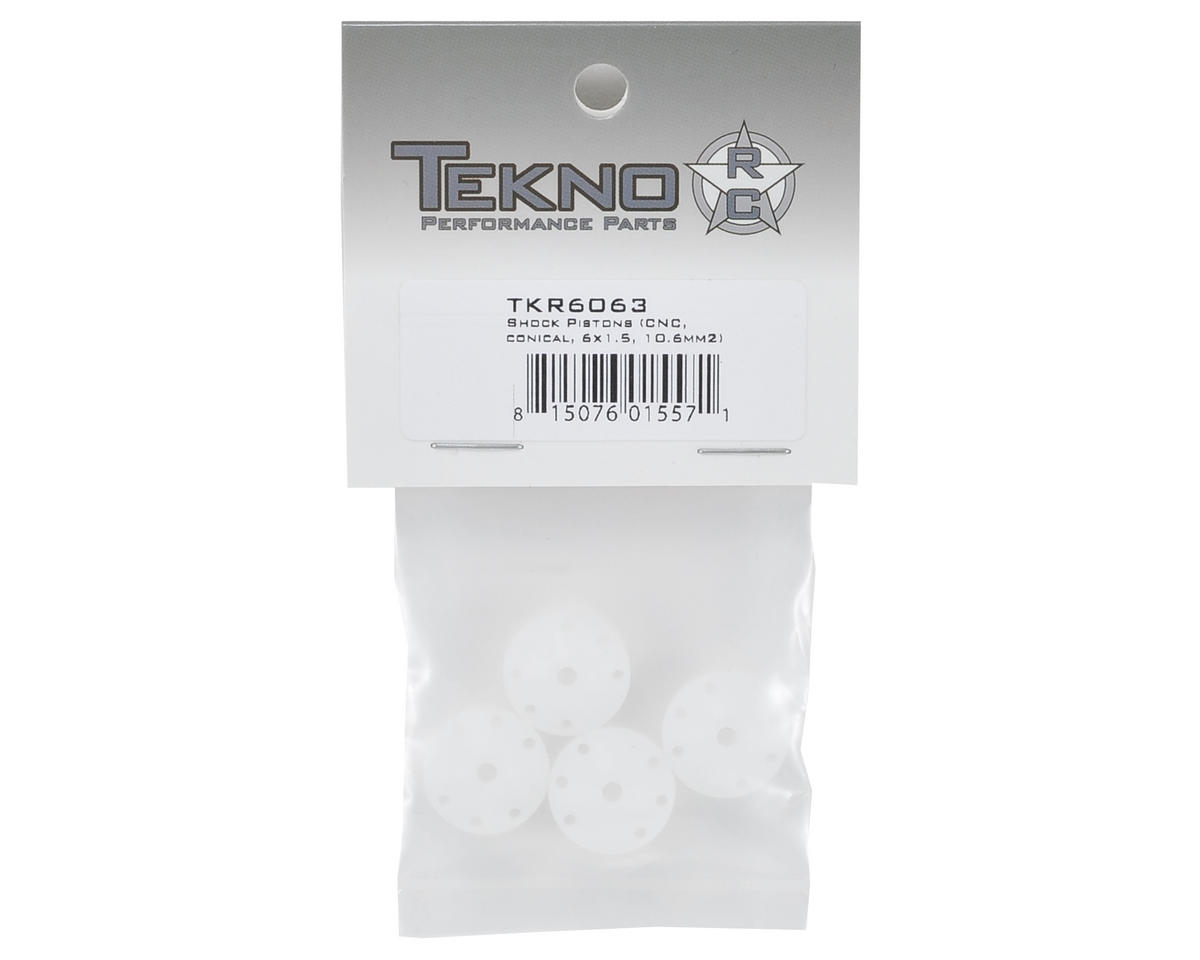 Tekno RC CNC Conical Shock Pistons (6x1.5mm)