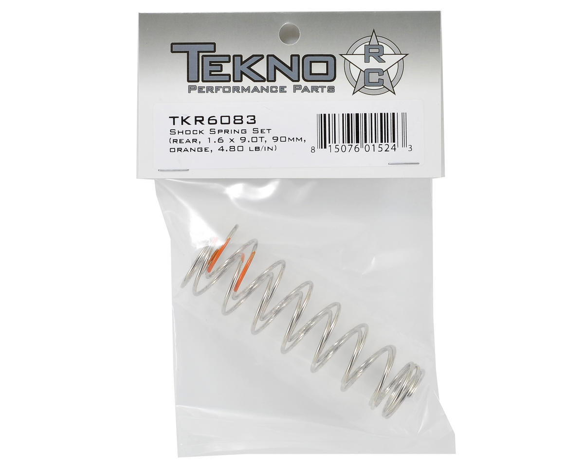 Tekno RC 90mm Rear Shock Spring Set (Orange) (1.6 x 9.0T) (2)