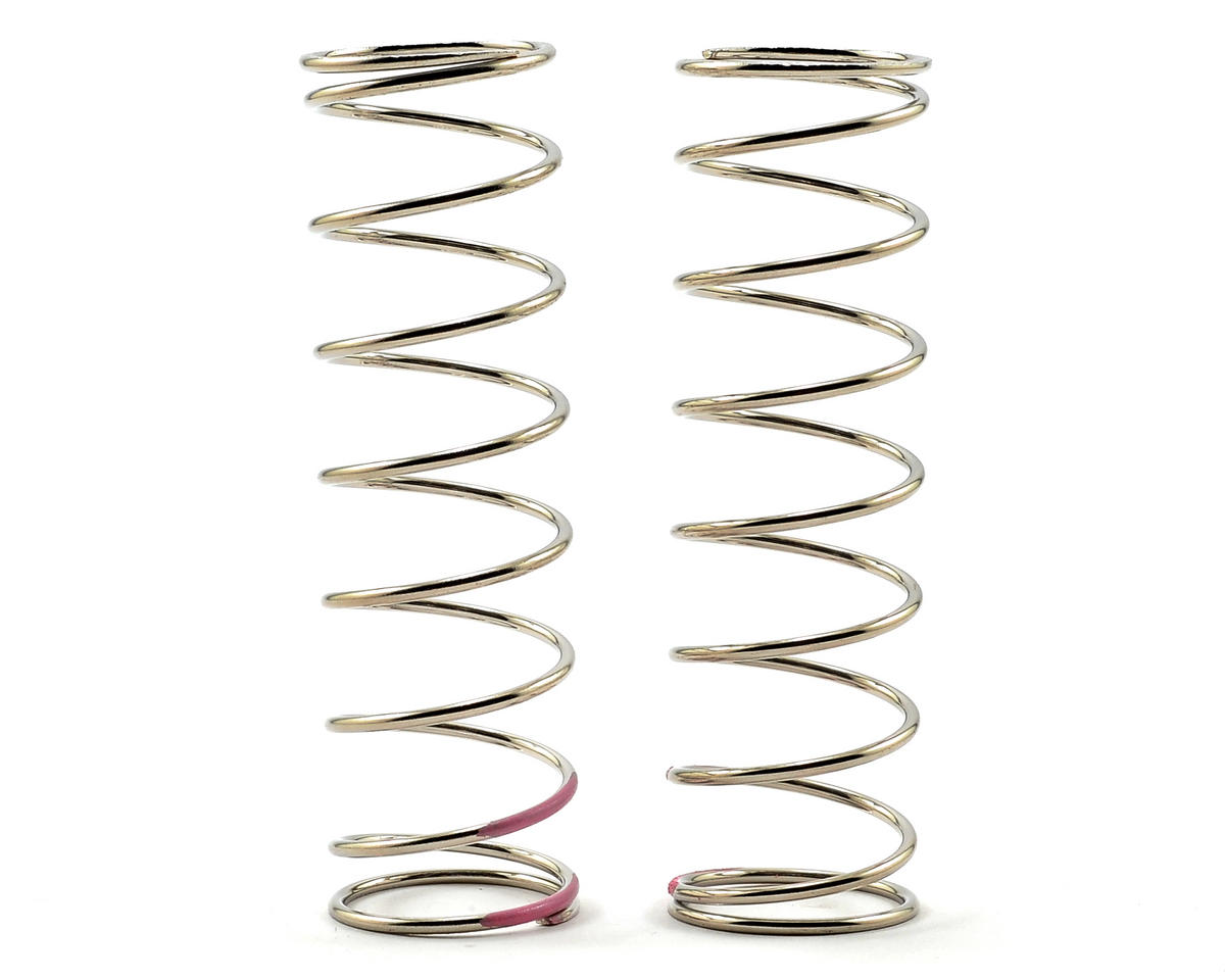 80mm Front Shock Spring Set (Pink) (1.6 x 9.0T) (2) by Tekno RC